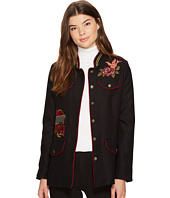 XOXO - Long Embroidered Military Jacket
