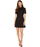 XOXO - Mixed Lace Skater Dress