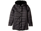 Reversible Nylon Coat with Faux Fur On The Other (Little Kids)