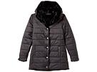 Reversible Nylon Coat with Faux Fur (Big Kids)