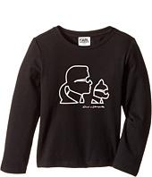 Karl Lagerfeld Kids - Long Sleeve Karl & Choupette Silhouette Tee (Toddler)