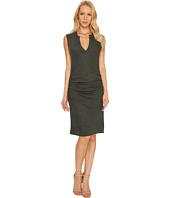 Lanston - V-Neck Ruched Mini Dress