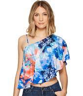 XOXO - Printed One Shoulder Top