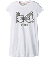 Fendi Kids - Short Sleeve T-Shirt w/ Logo Design on Front (Big Kids)