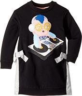 Fendi Kids - Long Sleeve DJ Fendirumi Dress w/ Side Bow Ties (Little Kids)