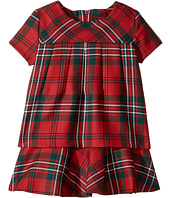 Oscar de la Renta Childrenswear - Holiday Plaid Wool Multi Layer Dress (Toddler/Little Kids/Big Kids)