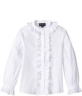 Oscar de la Renta Childrenswear - Cotton Ruffle Blouse (Toddler/Little Kids/Big Kids)
