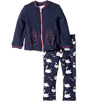 Little Marc Jacobs - Two-Piece Jacket and Trousers Swans Details (Toddler)
