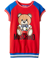 Moschino Kids - Short Sleeve Color Block Graphic Dress (Little Kids/Big Kids)