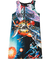 Moschino Kids - Sleeveless Transformers Dress w/ Logo on Front (Big Kids)