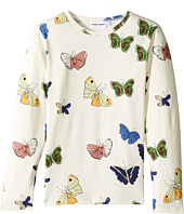 mini rodini - Butterflies Long Sleeve Tee (Infant/Toddler/Little Kids/Big Kids)