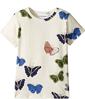 mini rodini - Butterflies Short Sleeve Tee (Infant/Toddler/Little Kids/Big Kids)