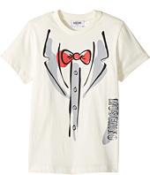 Moschino Kids - Short Sleeve Tuxedo Graphic Logo T-Shirt (Little Kids/Big Kids)