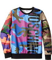 Moschino Kids - Long Sleeve Camouflage Logo Sweat Top (Big Kids)