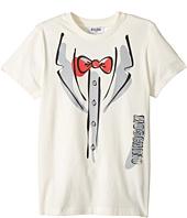 Moschino Kids - Short Sleeve Tuxedo Graphic Logo T-Shirt (Big Kids)