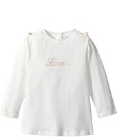 Lanvin Kids - Long Sleeve Logo T-Shirt with Shoulder Bows (Infant)