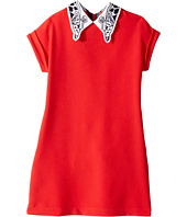 Paul Smith Junior - Solid Coral Dress w/ Giraffe On Collar (Big Kids)
