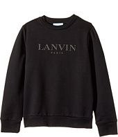 Lanvin Kids - Long Sleeve Logo Sweat Top (Little Kids/Big Kids)