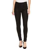 Hudson - Bullocks High-Rise Lace-Up Super Skinny in Black Coated