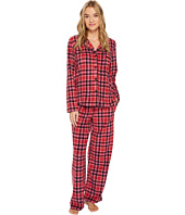 DKNY - Folded Stretch Fleece Notch Collar PJ Set