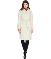 Cole Haan - Belted Asymmetrical Coat w/ Shawl Collar