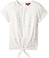7 For All Mankind Kids - Short Sleeve Tie-Front Tee (Little Kids)