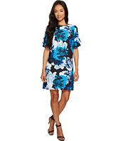 CeCe - Tiered Ruffle Sleeve Stately Bouquet Dress