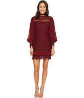 Laundry by Shelli Segal - Lace Sheath Dress with Tie Sleeve Details
