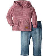7 For All Mankind Kids - Two-Piece Hooded Henley and Jeans Set (Infant)