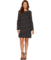 TWO by Vince Camuto - Ruched Bell Sleeve Nova Stripe Knit Dress