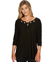 Tribal - Travel Pack and Go 3/4 Sleeve Top w/ Eyelet Detail