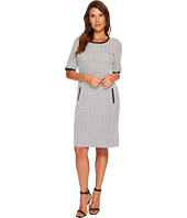 Tribal - Jacquard Knit Crew Neck Shift Dress