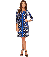 Tribal - Long Sleeve Printed Lined Dress