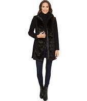 Tribal - Long Sleeve Faux Fur Trim Coat