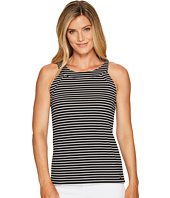 Ivanka Trump - Halter Knit Jersey Stripe Tank Top