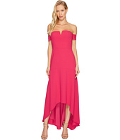 Aidan Mattox - Off the Shoulder Crepe High-Low Gown