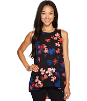 Vince Camuto Specialty Size - Petite Sleeveless Ballard Floral High-Low Hem Blouse