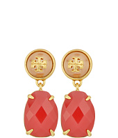 Tory Burch - Epoxy Pearl Stone Earrings