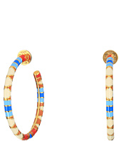 Tory Burch - Geo Striped Hoop Earrings