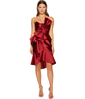 Marchesa - Strapless Mikado Cocktail Bow Dress
