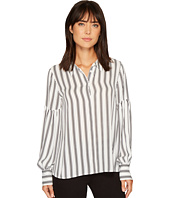 Vince Camuto - Long Puff Sleeve Stripe Display Blouse