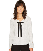 Vince Camuto - Long Sleeve Elegant Speckles Lace-Up Blouse