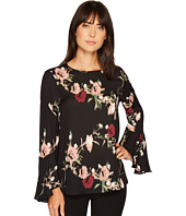 Vince Camuto - Flared Sleeve Windswept Bouquet Blouse