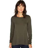 Vince Camuto - Long Ruched Sleeve High-Low Hem Top