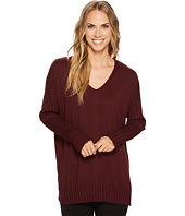 Vince Camuto - Drop Shoulder Ribbed Long Sleeve V-Neck Sweater