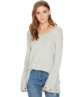 kensie - Warm Touch Sweater with Bell Sleeve and Grommets KS0K5664