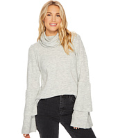 kensie - Warm Touch Sweater with Cowl Neck and Layered Ruffle Sleeve KS0K57S5