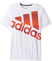 adidas Kids - Clima Future Stripe Logo Tee (Big Kids)