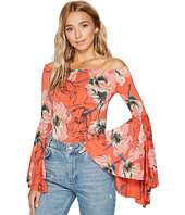 Free People - Printed Birds Of Paradise Top