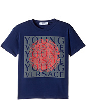 Versace Kids - Short Sleeve T-Shirt w/ Medusa Logo Design On Front (Toddler/Little Kids)